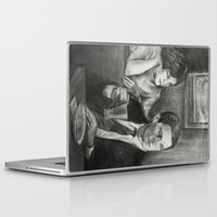 dale cooper Laptop & iPad Skins featuring TWIN PEAKS - COOPER AND AUDREY by William Wong