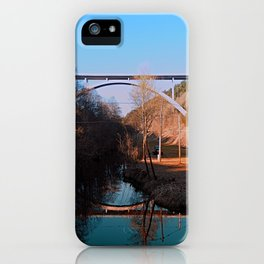 A bridge, the valley and beautiful reflections | Architectural photography iPhone Case