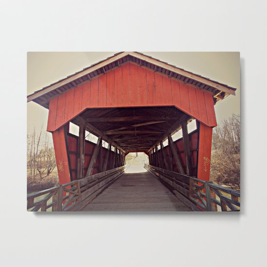 Covered  Metal Print