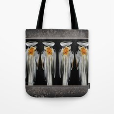 Snow Puff Abstract Tote Bag