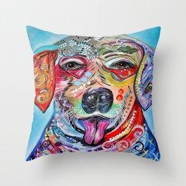 Laughing Labrador Throw Pillow
