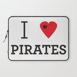 I heart Pirates Laptop Sleeve