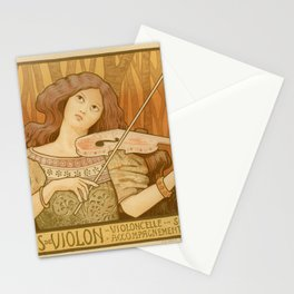 Violon lesson Stationery Cards