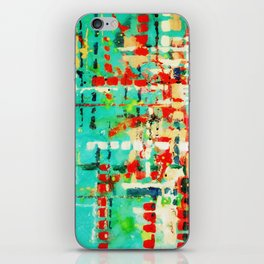 on my street -turquoise abstract iPhone Skin