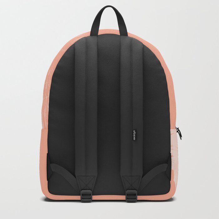 Sweet Life Paint Swipes Peach Coral Pink Backpack
