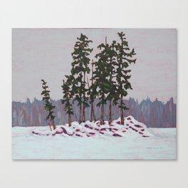 Frozen Island, Algonquin Park Canvas Print