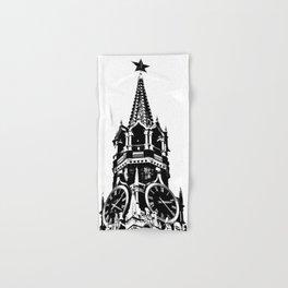 Kremlin Chimes-b&w Hand & Bath Towel