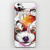 red panda iPhone & iPod Skins featuring Red Panda  by Abby Diamond