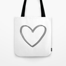 Coupled Heart Tote Bag