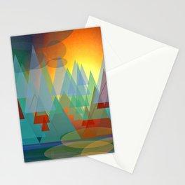 Alpine Sunset Stationery Cards