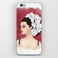 selena gomez iPhone & iPod Skins featuring Selena by Quinn