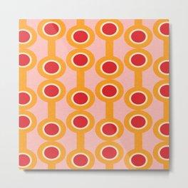 dumbbells yellow  #midcenturymodern Metal Print