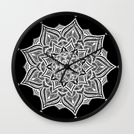 Black mndala for fun Wall Clock