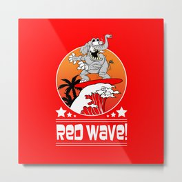 Republican Elephant Red Wave Midterm Vote 2018 Metal Print