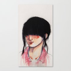 Girl with the Fringe Canvas Print