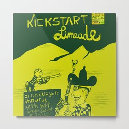 Kickstart Limeade Metal Print