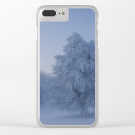 Black Forest Snowy Trees - Landscape Photography Clear iPhone Case