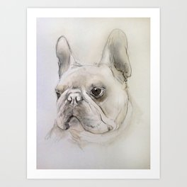 Frenchie portrait Art Print
