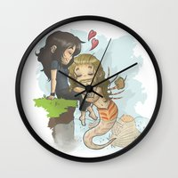 kili Wall Clocks featuring Kili and Mer!Fili by AlyTheKitten