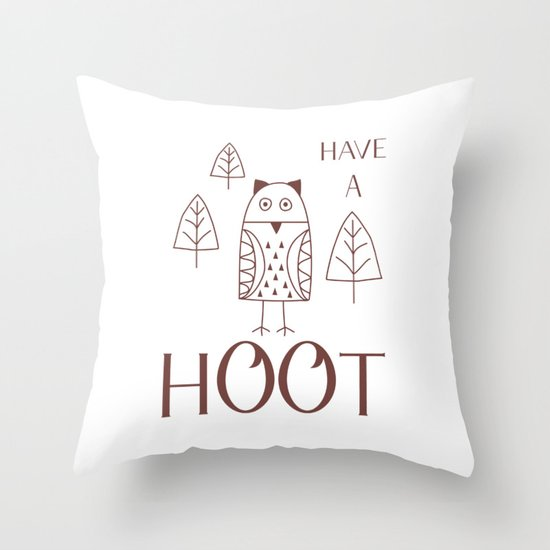 Have a Hoot Throw Pillow