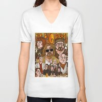 big lebowski V-neck T-shirts featuring The Big Lebowski by David Amblard