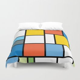 The Colors of / Mondrian Series - Simpsons Duvet Cover