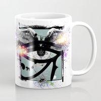 all seeing eye Mugs featuring All Seeing Eye by Cody Norris