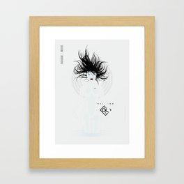 P_2501-white (manga) Framed Art Print