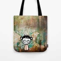 grunge Tote Bags featuring grunge by wet yeti