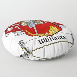 Family Crest - Williams - Coat of Arms Floor Pillow