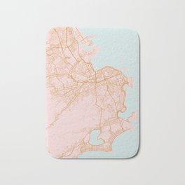 Rio de Janeiro map, Brazil Bath Mat