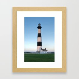 Bodie Island Lighthouse Sunset Outer Banks NC OBX Pea Island Hatteras Island  Framed Art Print