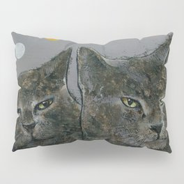 Grey Cats Pillow Sham