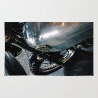 motorbike Area & Throw Rugs featuring Deus Motorbike by ThePavedParadise
