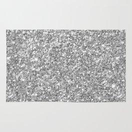 Silver Gray Glitter Rug