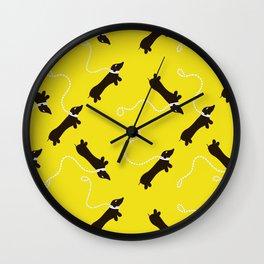 Dogs infinity - Fabric pattern Wall Clock