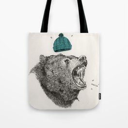 bear and cigaret  Tote Bag