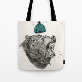 bear and cigaret  Tote Bag