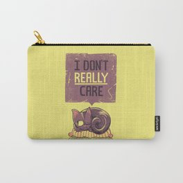 I Dont Care Cat Carry-All Pouch