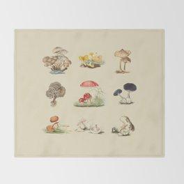British Mycology Throw Blanket