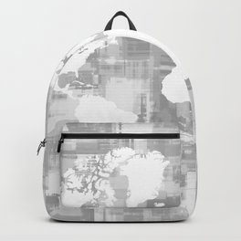 Design 71 Grayscale World Map Backpack