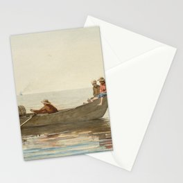 Three Boys in a Dory with Lobster Pots Stationery Cards