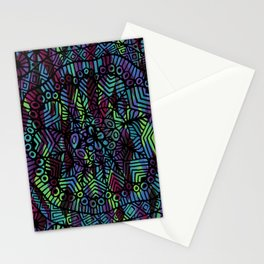 Purple and Green Doodle 14 Stationery Cards