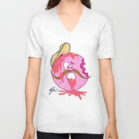 donut V-neck T-shirts featuring Donut by De Leon Clothing