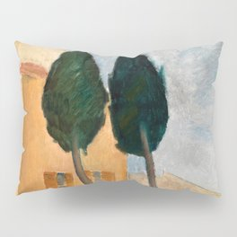 """Amedeo Modigliani """"Cypresses and Houses at Cagnes (Cyprès et maisons à Cagnes)"""" Pillow Sham"""