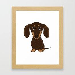 Chocolate Dachshund Framed Art Print