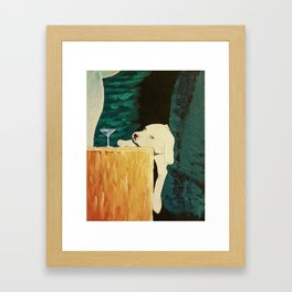 sleepy puppy Framed Art Print
