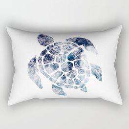 Sea Turtle - Blue Ocean Waves Rectangular Pillow