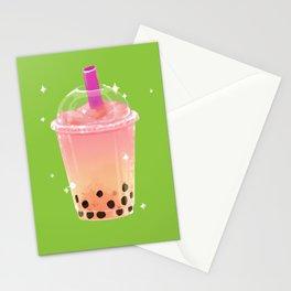 Frozen Boba Tea Stationery Cards