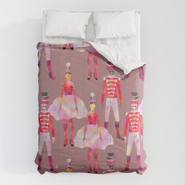 Nutcracker Ballet - Light Pink Gray Comforters